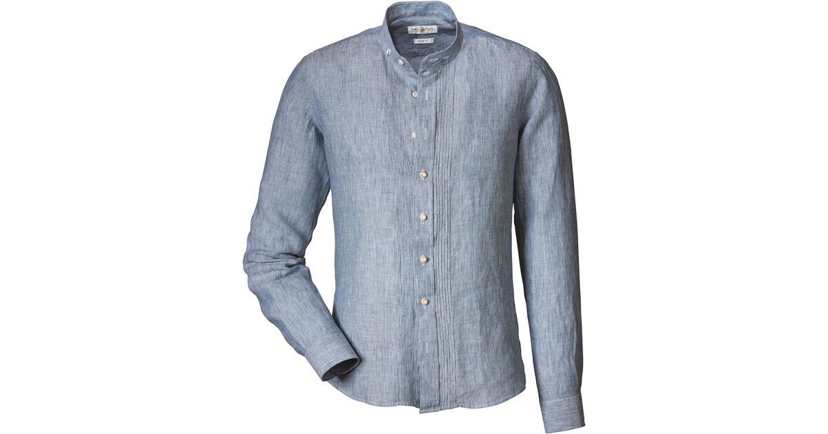 almsach leinen streifenhemd blau hemden bekleidung f r herren sale mode online shop. Black Bedroom Furniture Sets. Home Design Ideas