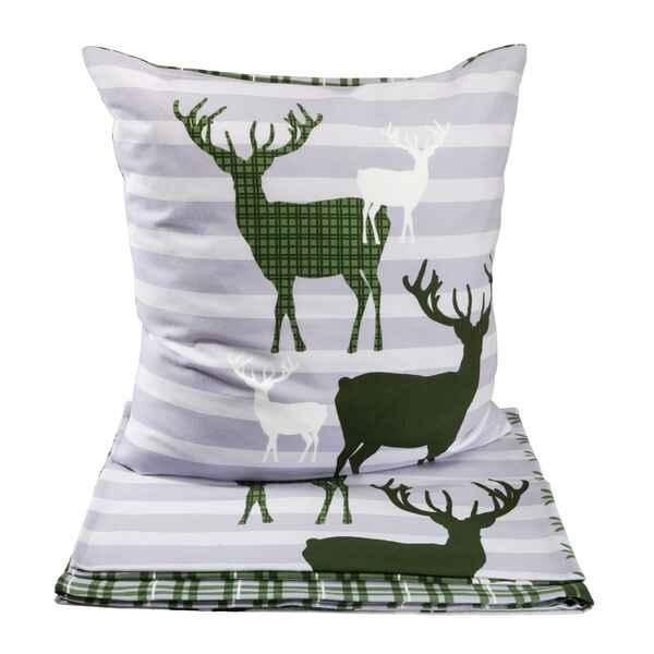 edelflanell bettw sche hirsch ma e lxb 155x220 cm 80x80 cm accessoires geschenke heim. Black Bedroom Furniture Sets. Home Design Ideas