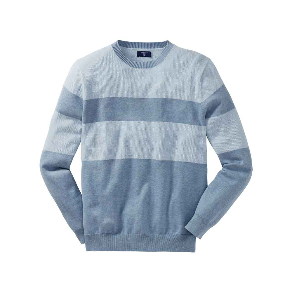 de08f758e582 Gant Blockstreifen-Pullover (blau) - Pullover   Strickjacken ...