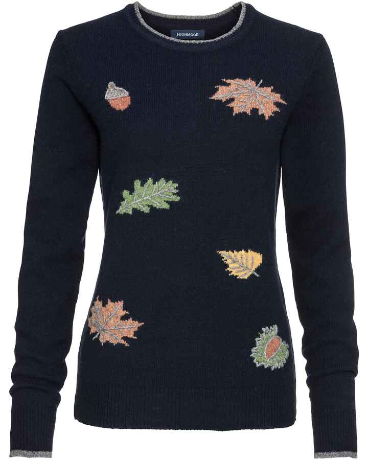 Pullover mit Herbst-Jacquard, HIGHMOOR