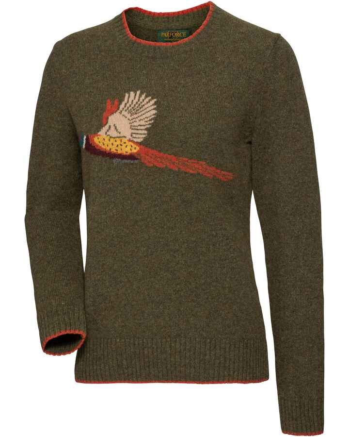 Damen Pullover mit Fasanenmotiv, Parforce Traditional Hunting